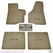 OEM NEW 2011-2012 Ford F-250 F-350 CREW CAB King Ranch Tan Carpet Floor Mats