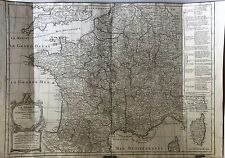 1771 France Vaugondy Paris Marseille Lyon Toulouse Bordeaux Nice Nantes Grenoble