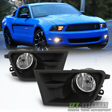 2010 2011 2012 Ford Mustang Glass Lens Bumper Fog Lights Driving Lamp Left+Right