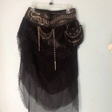 Leather Lace Grunge Voyage Ashamaya Festiva Utility Belt Skirt Pouch Burning Man