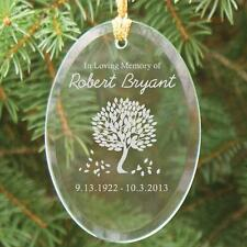 Personalized Tree of Life Memorial Ornament In Loving Memory Glass Tree Ornament