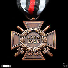 The Honour Cross of the World War 1914 - 1918 WW1 German Hindenburg Cross Repro'