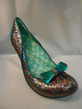 Irregular Choice Multi Colored Glitter Heels w/ Teal Accents Size 10 M / 41 EU