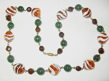 SUPERBE ANCIEN COLLIER DE PERLES EN VERRE DE MURANO VINTAGE OLD NECKLACE
