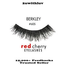 3 X RED CHERRY 100% HUMAN HAIR FALSE EYE LASHES #605 AUTHENTIC