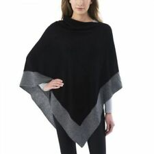 CELESTE WOMEN'S COLORBLOCK CASHMERE & WOOL BLEND PONCHO SWEATER One size