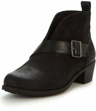 UGG Wright Belted Shoes Black Suede Leather Booties Boots 9.5 M NWOB NEW $165