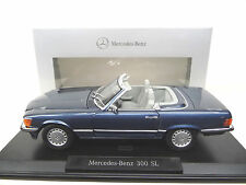 1:18 NOREV MERCEDES 300sl r107 NAUTICA BLUE Dealer Edition NUOVO NEW