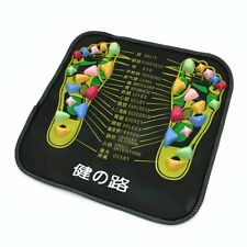 Colored Plastic Walk Stone Square Healthy Foot Massage Mat Pad Cushion T1