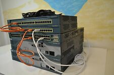 Cisco CCENT, CCNA & CCNP LAB KIT 2x 2821 CCIE 15.1 IOS 3550-24 LAYER 3, 2950-24