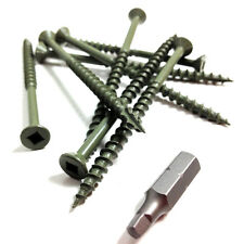 200 x 75mm DECKING SCREWS - HIGH PERFORMANCE ROBERTSON SQUARE DRIVE, GASH POINT