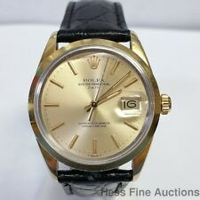 Scarce Rolex Date Gold Cap 1550 Mens Vintage Genuine Watch 1 Year Warranty
