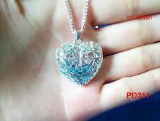 New  NF 925 Silver Plated Heart Crystal Charms Pendant For Necklace