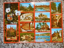 Old Vintage Postcard Palma De Mallorca Baleares Espana Spain 12 views pictures