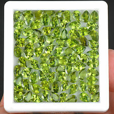 61.75 Cts/84 Pcs Natural Peridot Wholesale Lot Untreated Finest Green Gemstones