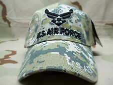 U.S. Air Force USAF DIGITAL MULTI-CAM Adjustable Velcro Embroidered Hat