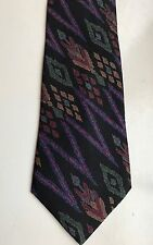 Men's 100% Silk Neck Tie NeckTie Black Blue Red Green Abstract Traditional