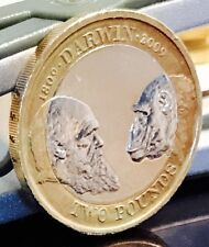 2009 £2 COIN DARWIN VERY RARE TWO POUNDS