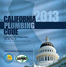 2013 California Plumbing Code Book - New