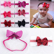 3inch 6pcs Baby Girl Infant Hairband Hair Bows Clip With Headbands Z14+K3-A