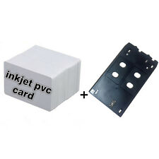 Plastic Inkjet PVC Card Set-10X Inkjet ID Card+1X Card Tray for Canon J Printer