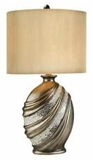 """Antique brass and silver finish Decorative Table Lamp 30.5"""" H- OK-4218T"""