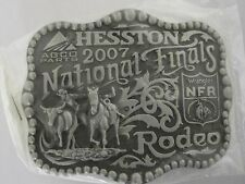 National Finals Rodeo Hesston 2007 NFR Adult Cowboy Buckle New Orig. Pkg. AGCO