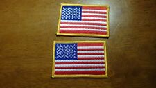 MILITARY SHOULDER UNITED STATES ARMY FLAG PATCH 2 PATCHES IRON ON PATCHES
