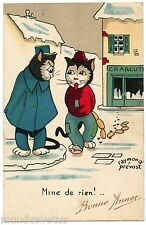 RAYMOND PREVOST. CHATS HUMANISéS. DRESSED CATS. LE CHAPARDEUR. SNEAK THIEF.