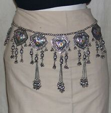 Kuchi Tribal ats BELT Hip scarf Bellydance costume skirt Gypsy Waist Jewelry 376