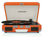 Crosley CR8005A-OR Cruiser 3 Speed Portable Turntable Record Player ORANGE Vinyl