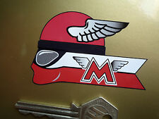 "MATCHLESS Winged Helmet Rider Motorcycle STICKERS 3"" Pair G2 G3 CSR G80 G9 G12"