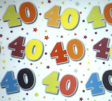2 sheets 40th birthday gift wrap / wrapping paper