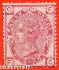 "SG. 143. J40. "" FC "". 3d rose plate 16.  An average mint example."