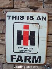 International Harvester Service Farm Signs Tractor Seed Feed Gas Oil Barn 12x16
