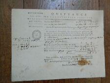 Révolution Française FINANCE PARIS 1795 Quittance de CONTRIBUTION Foncière