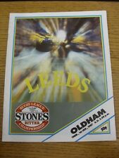 01/01/1987 Rugby League Programme: Leeds v Oldham  . Thanks for viewing this ite