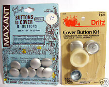 """2 Cards Buttons to Cover Maxant 8 Refill Size 30, 3/4"""" & Dritz 2 Count 7/8"""" Dia"""