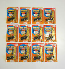"12 NEW GOLD TOY CAP GUNS 7"" POLICE PISTOL DETECTIVE REVOLVER FIRES 8 RING CAPS"