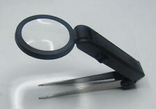 RDGTOOLS MAGNIFYING LED FINE POINT TWEEZERS WITH BATTERIES