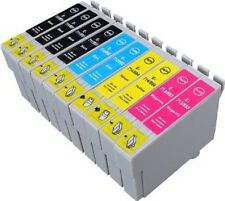 10 Non-OEM Ink Cartridges for Epson T1285 & T1281 (2 Sets + 2 Black) for SX235w
