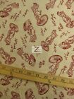 "ASIAN ORIENTAL GEISHA IVORY RED BY KONA BAY FABRIC 100% COTTON FABRIC 45"" FH-414"