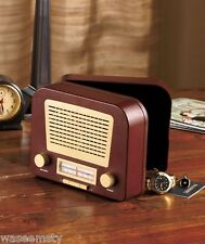 Collectible Old Fashioned Antique Look Retro Radio Safe Accent Decor