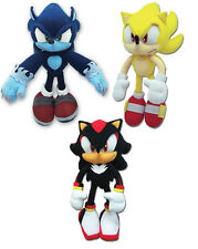 NEW GE Sonic the Hedgehog Set of 3 Plush Toys - Werehog/Super Sonic/Shadow