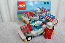 LEGO 6646 City/ Town - Screaming Patriot - Racing Car - 100% Instructions 1991