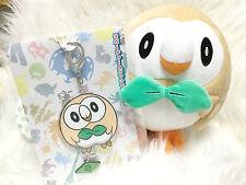 ✨ Pokemon Center Original sun and moon Alola Rowlet plush doll & Charm Japan ✨