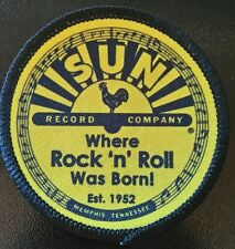 SUN RECORDS Patch parche rock n roll elvis presley johnny cash tennesse