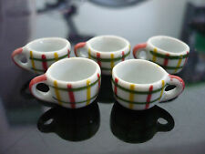 5x12mm Painted Scott Pattern Coffee Cup Dollhouse Miniatures Ceramic Supply Deco