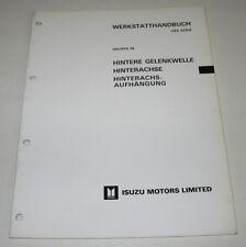 Werkstatthandbuch Isuzu Bighorn I hintere Gelenkwelle Hinterachs Februar 1987!