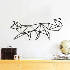 Fox Geometric Vinyl Wall Stickers 3D Fox Home Decor Wall Decal Animal Sticker